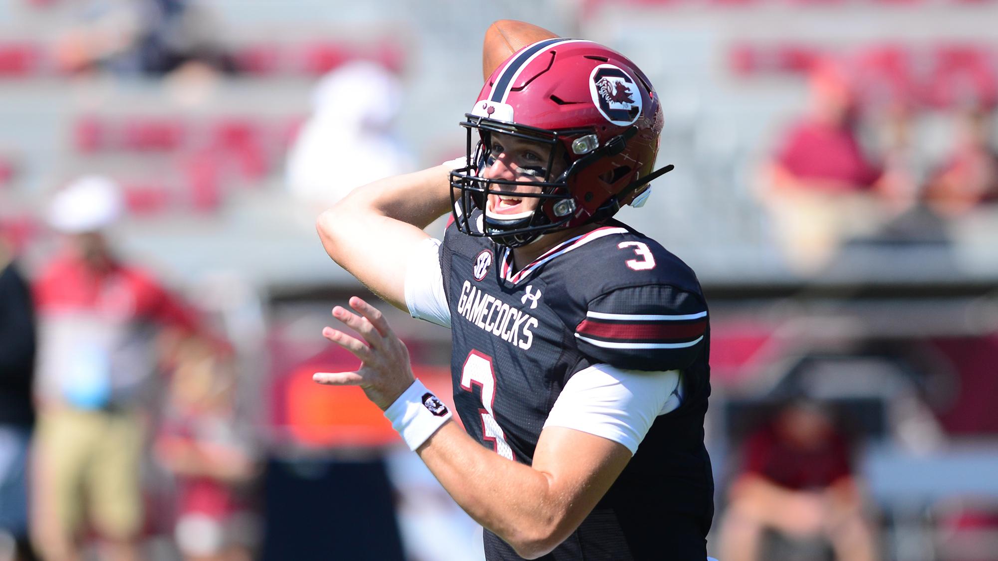 Ryan Hilinski (3), (Photo courtesy of University of South Carolina Athletics)