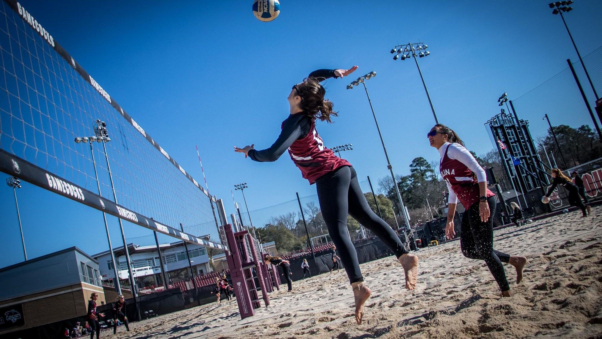 Beach Volleyball Faces Loaded Field To Open Season University Of South Carolina Athletics