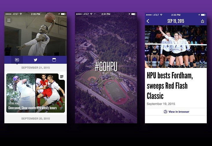 HPU Panthers app for iPhone, iPad, Android - High Point