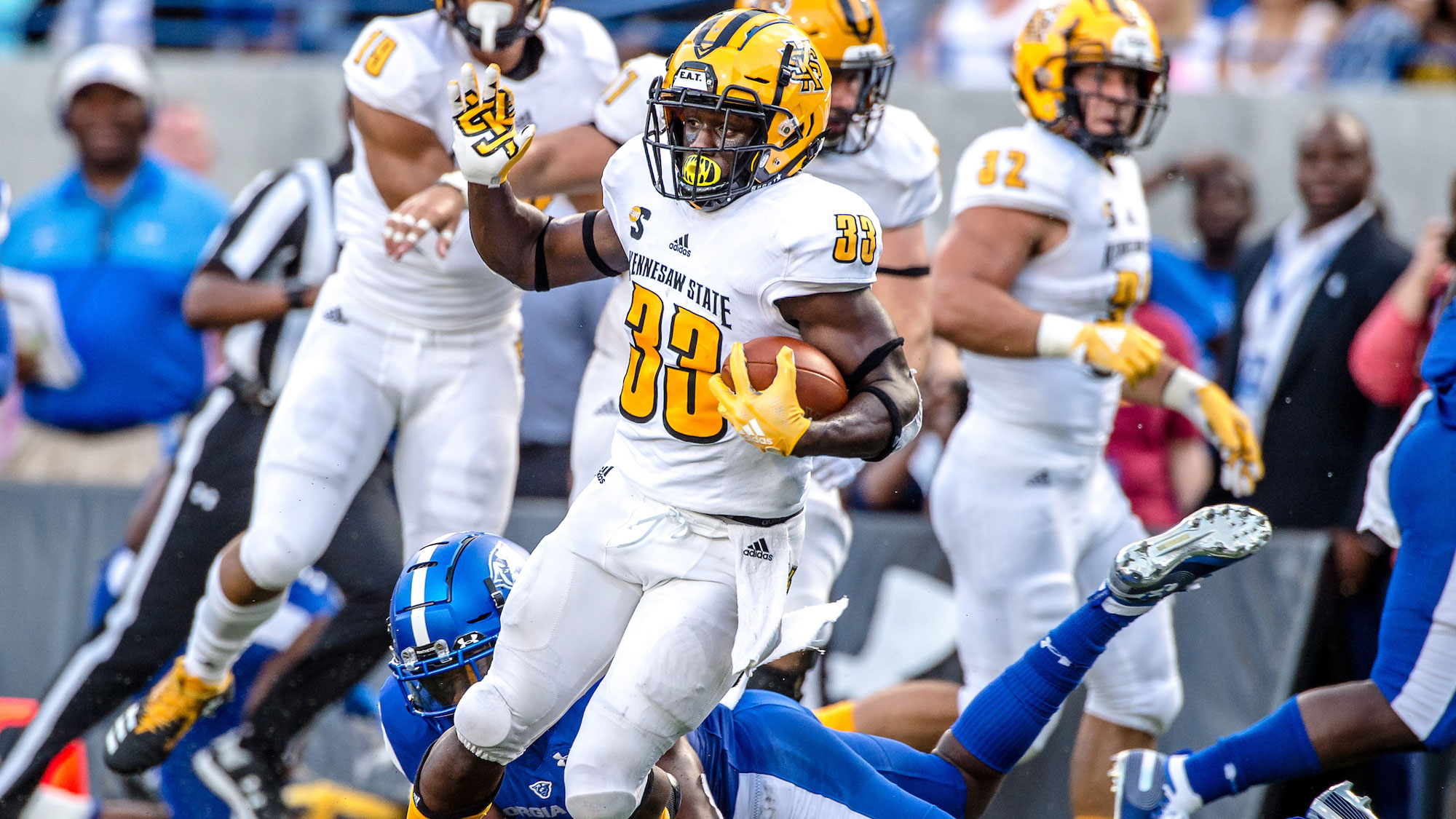 factory authentic 866a2 cd576 Darnell Holland - Football - Kennesaw State University Athletics
