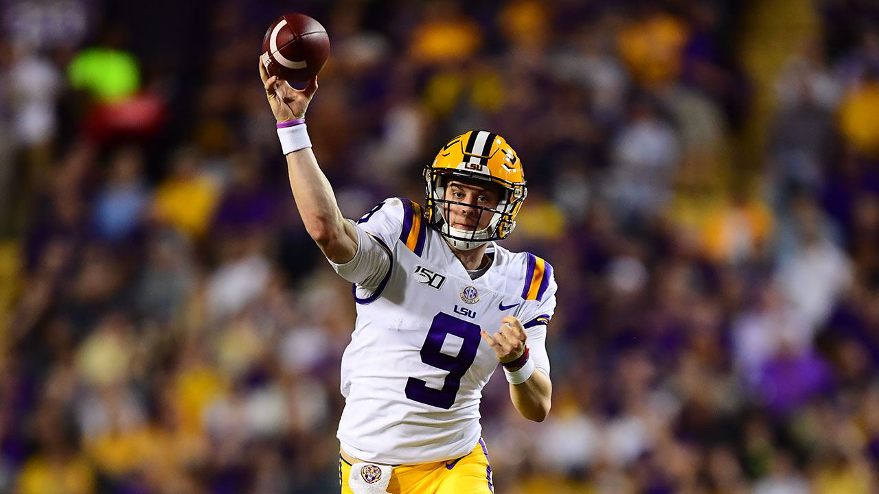 Photo: Joe Burrow (9), Louisiana State University Athletics
