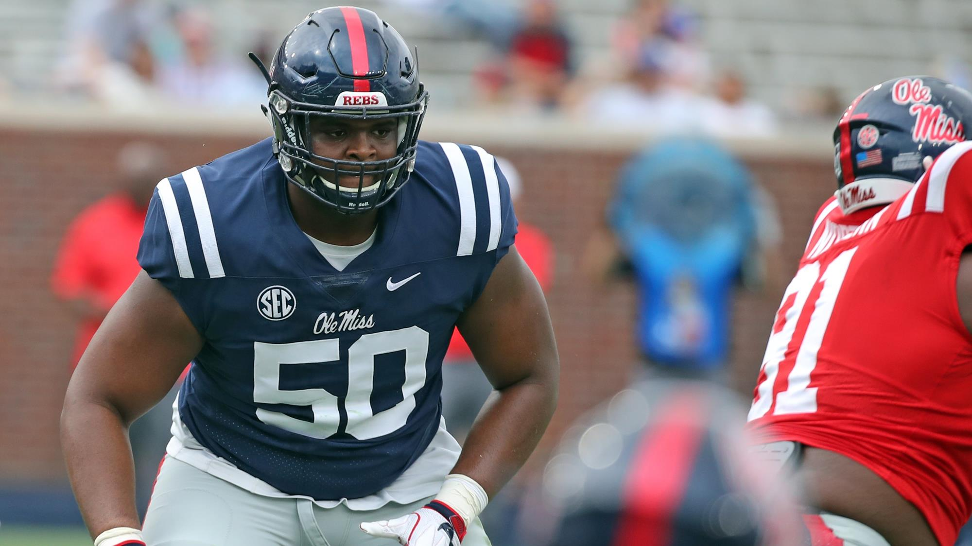 Jalen Cunningham Football Ole Miss Athletics
