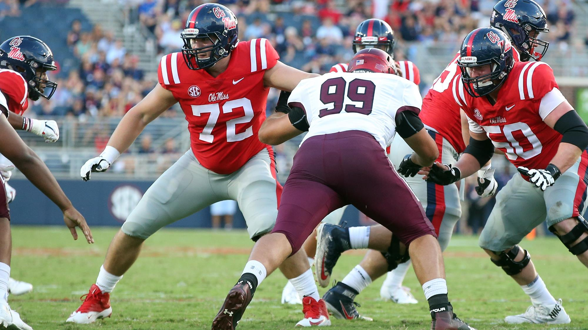 Royce Newman Football Ole Miss Athletics