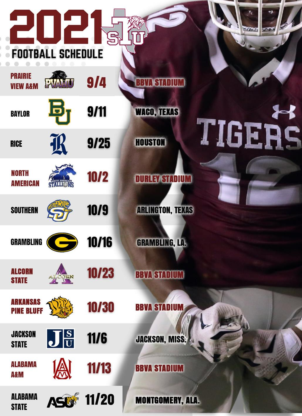 Texas Southern Football Announces 2021 Schedule