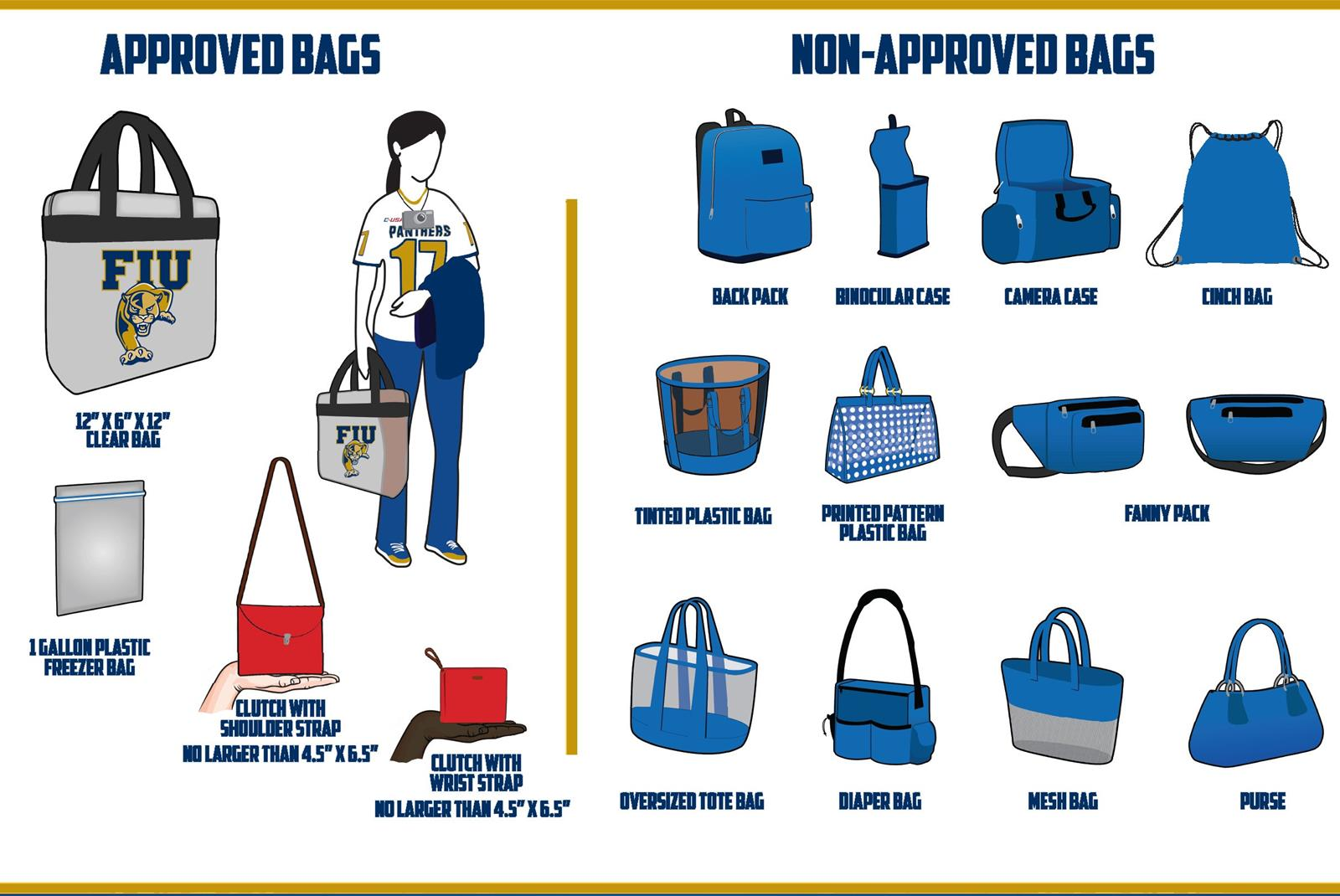 3a92d6d15acd Clear Bag Guidelines Information - FIU Athletics