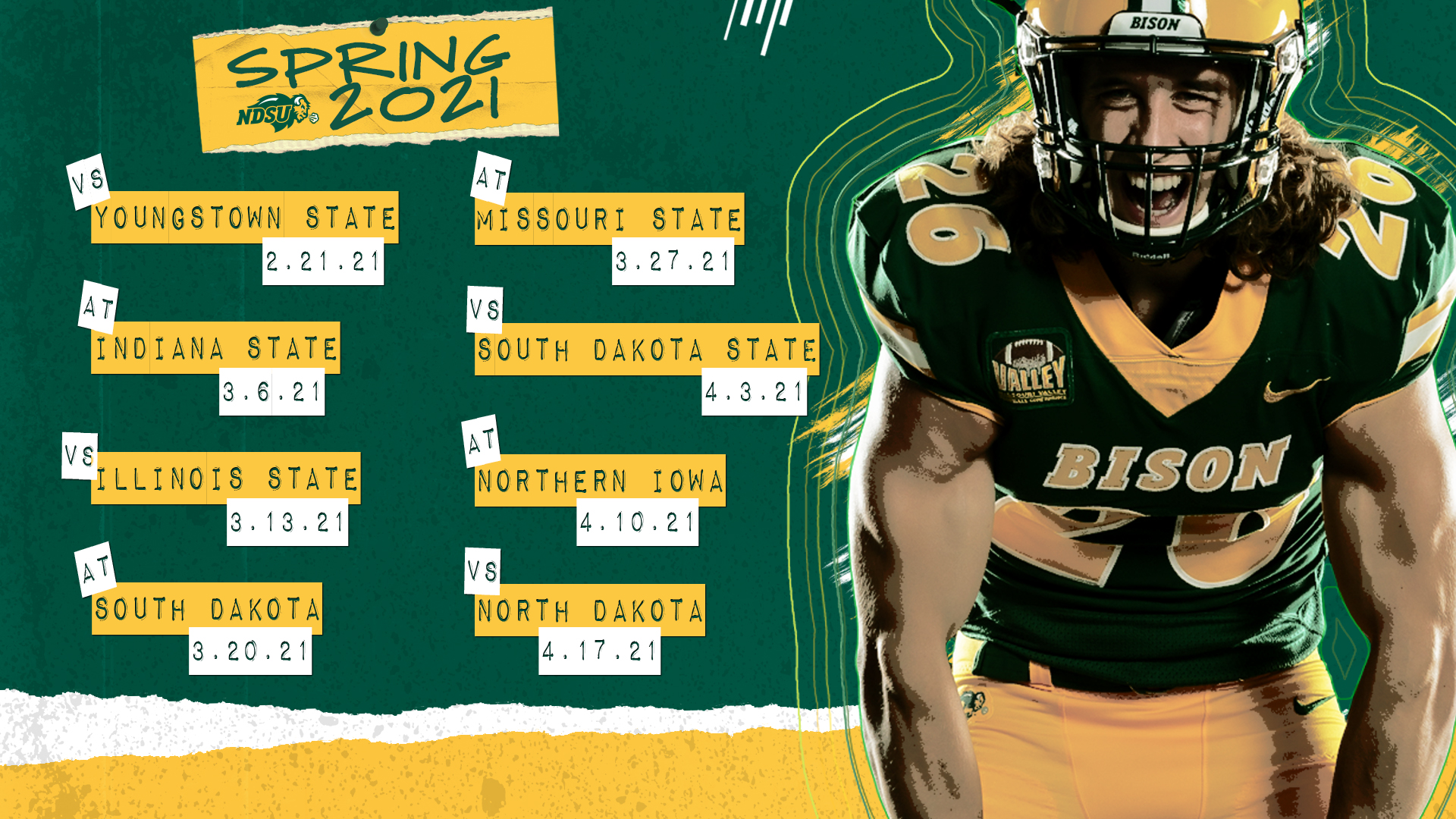 Eight Game Spring Schedule Set For Valley Football NDSU