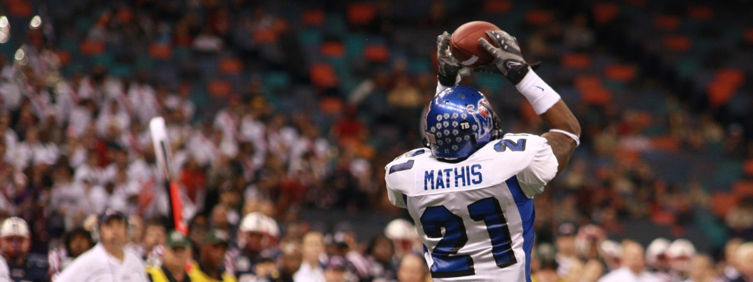 Lerico Mathis 2008 Football University Of Memphis Athletics