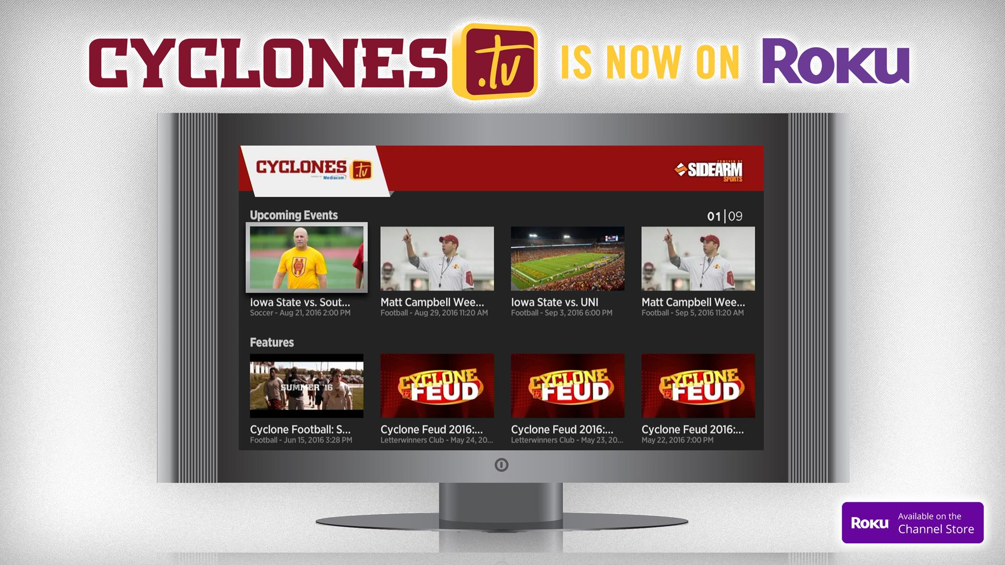 Cyclones tv Debuts Roku Channel - Iowa State University