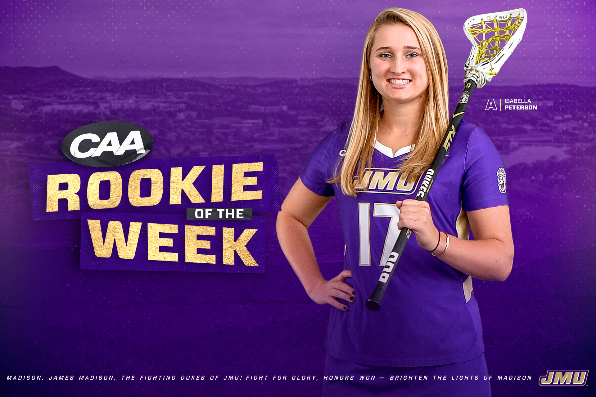 isabella peterson caa rookie of the week
