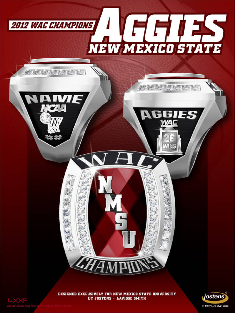 Menzies Distributes Championship Rings New Mexico State