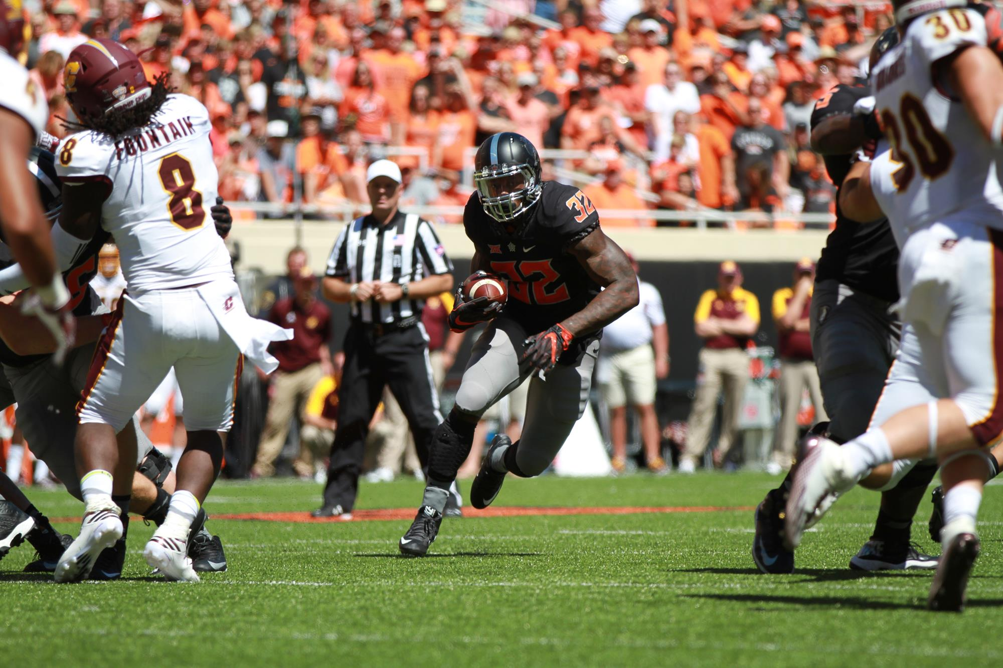 Chris Carson 2016 Football Oklahoma State University Athletics