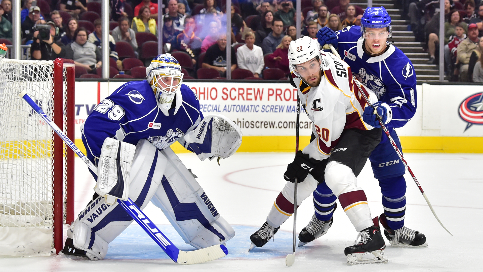 Crunch top Monsters, 2-1, for first win of the season