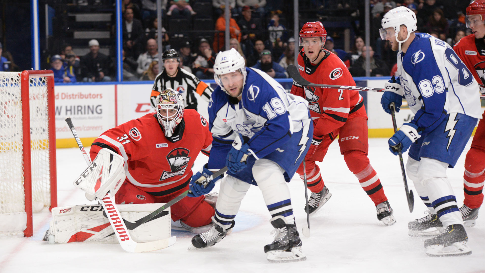 Checkers blow past Crunch, 7-3