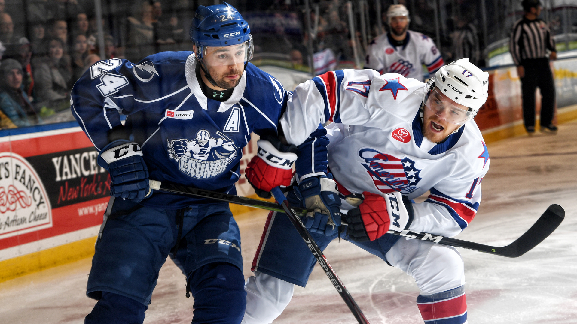 Crunch come up short to Amerks, 4-3