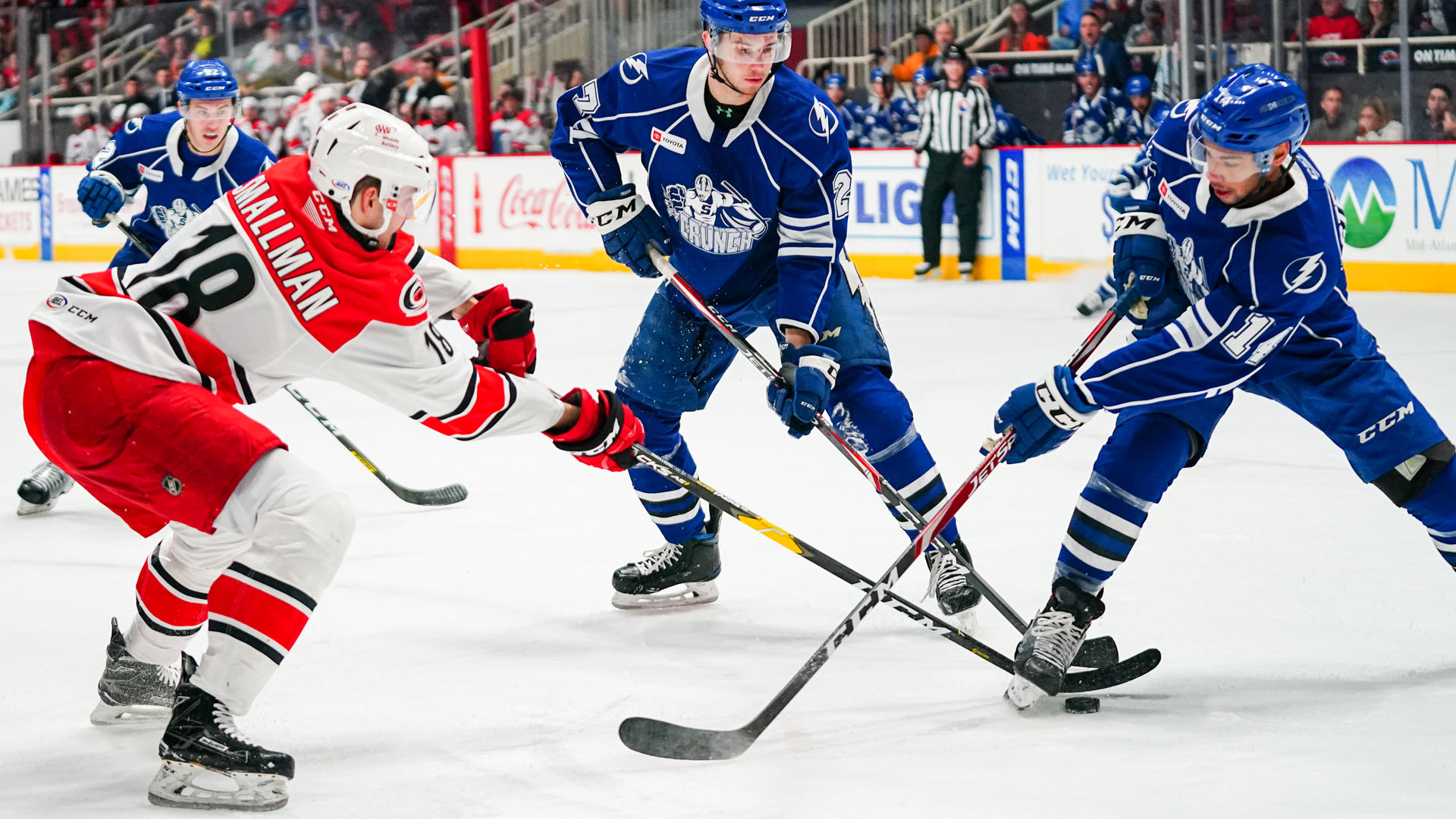 Checkers rally past Crunch, 3-2