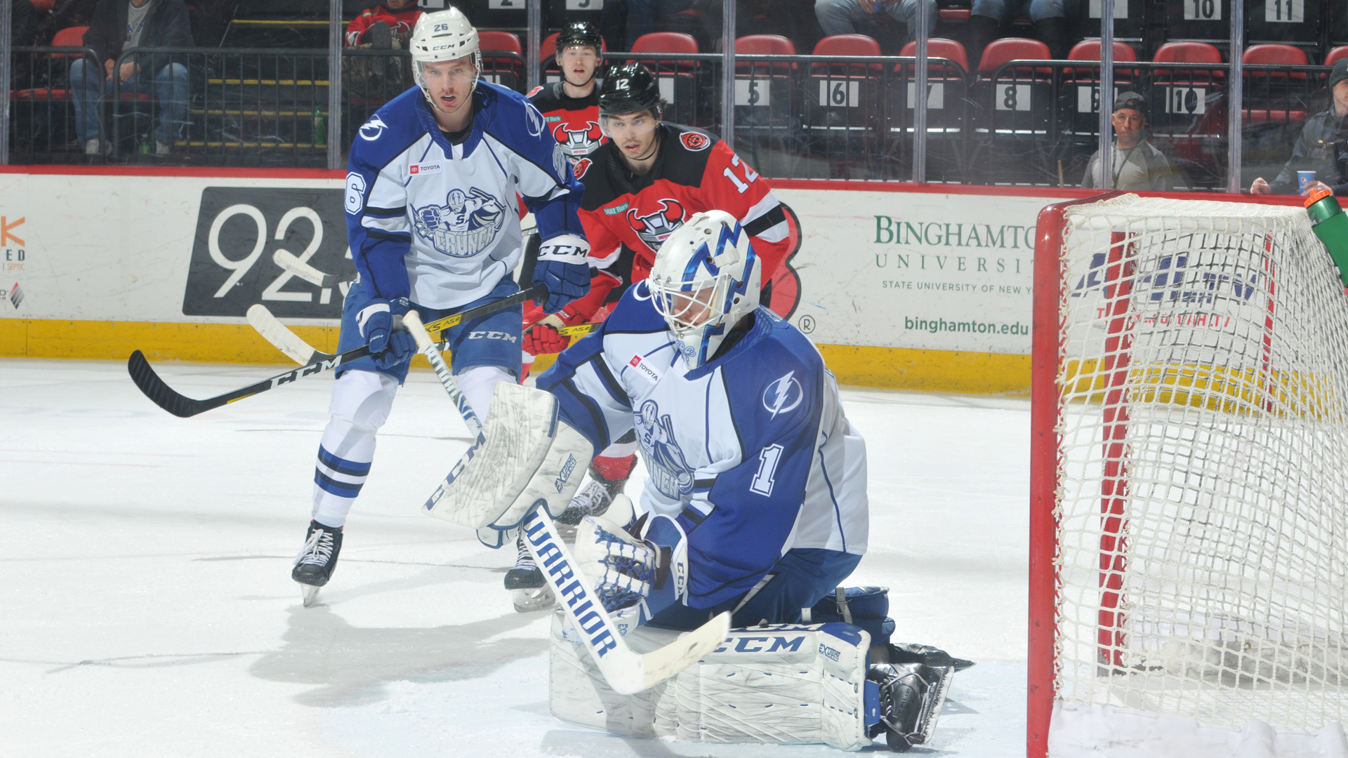 Crunch bounce back with 6-5 win over Devils