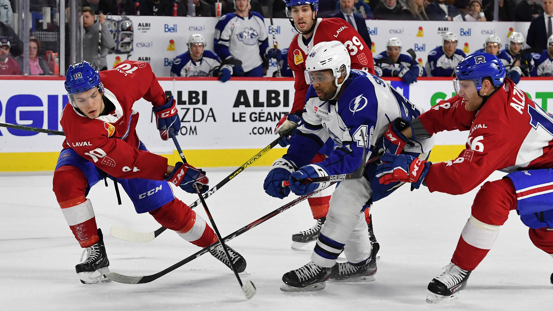 Crunch edged by Rocket in overtime, 3-2