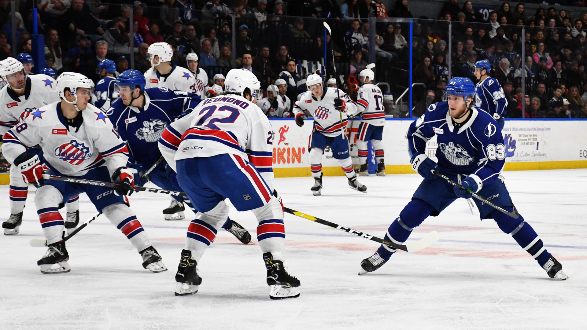 Amerks get doubled up by Crunch