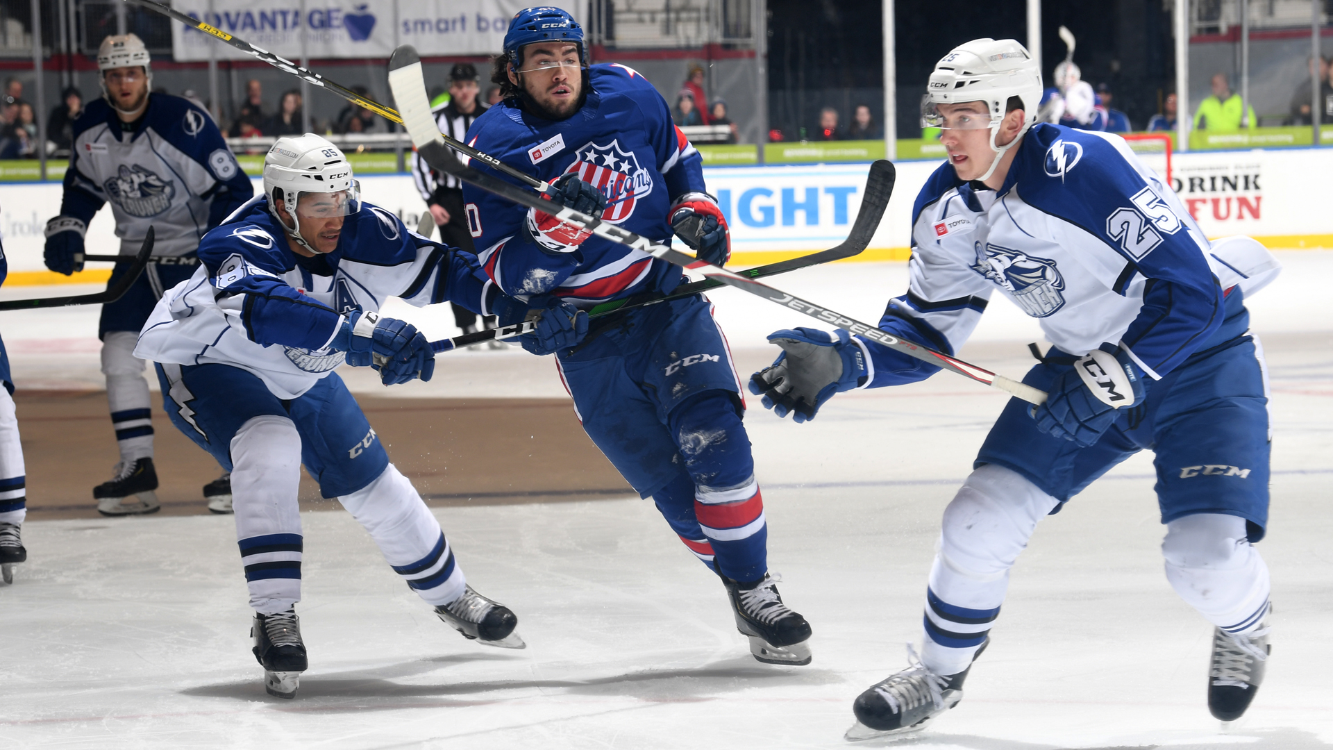 Amerks win streak snapped with 5-2 home loss to Crunch