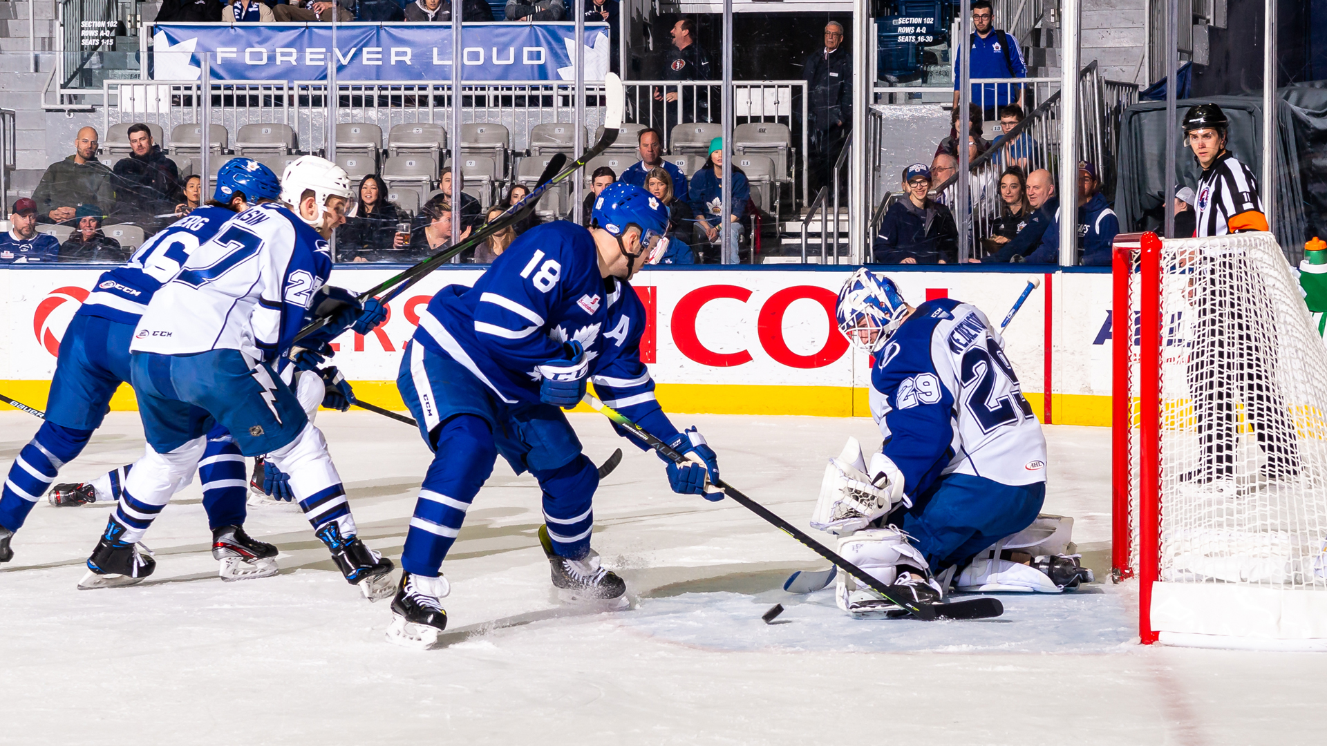 Crunch fall to Marlies, 5-2