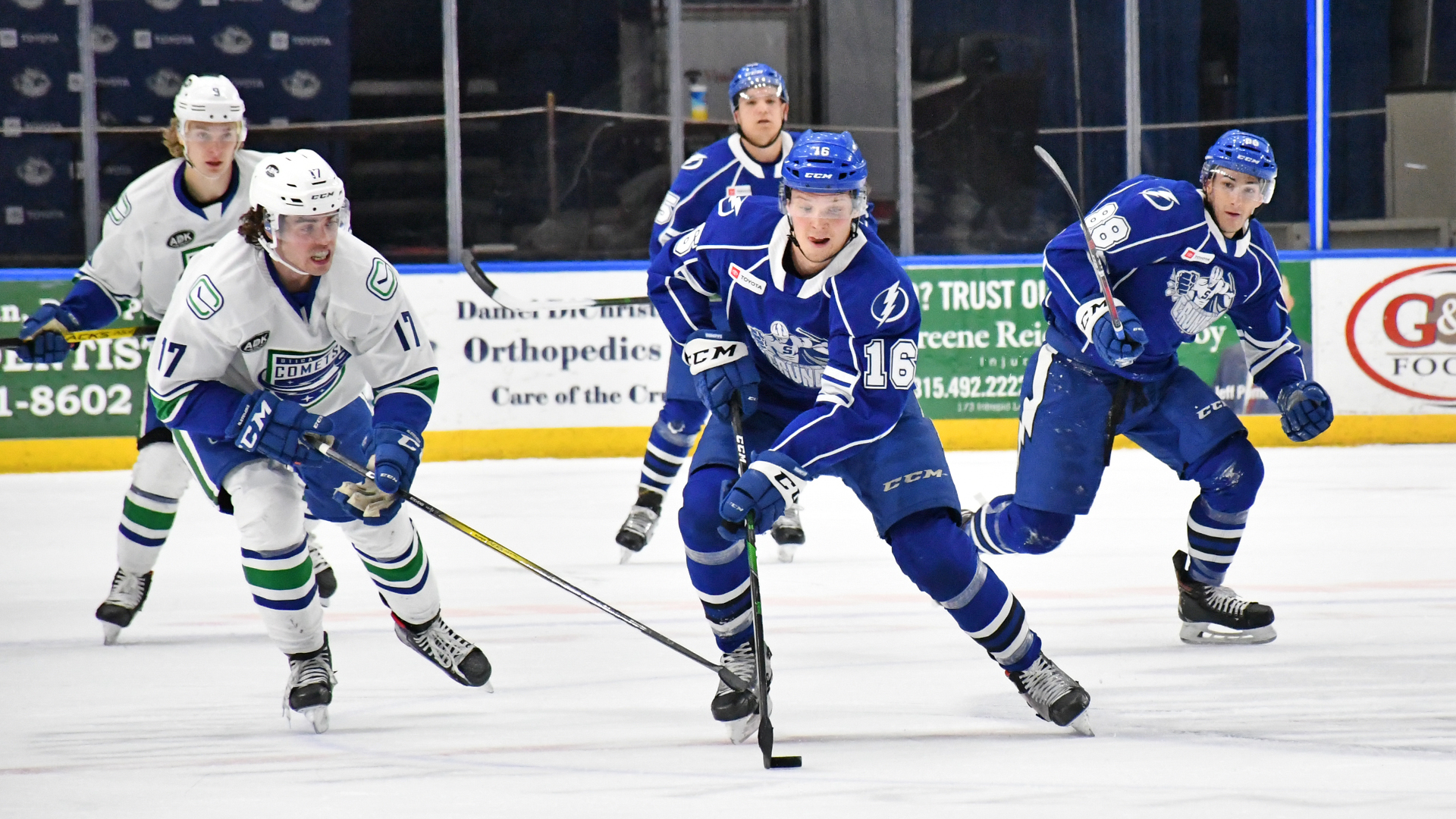 Crunch topple Comets, 6-2