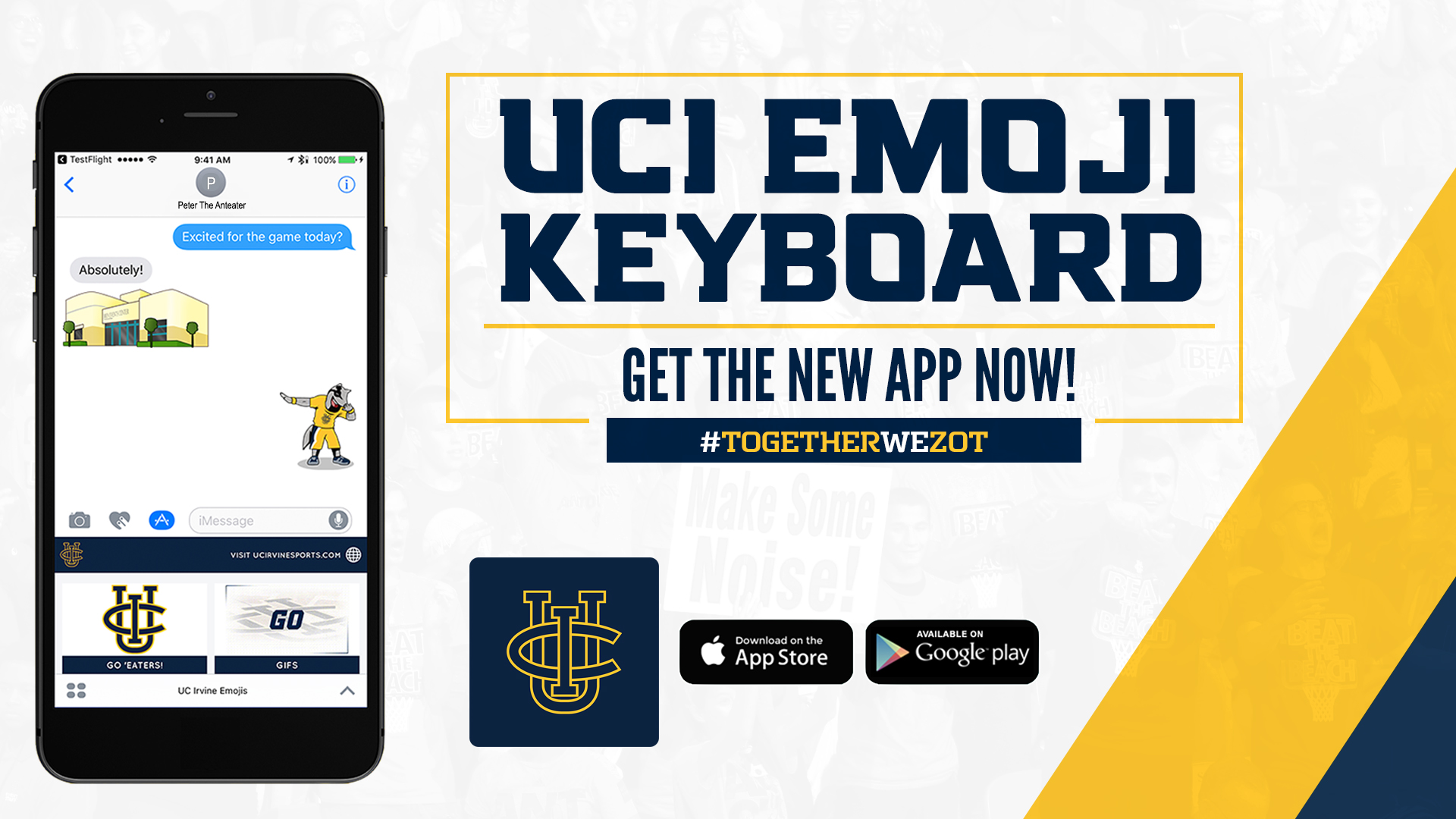 UC Irvine Athletics Emoji Keyboard - UCI Athletics