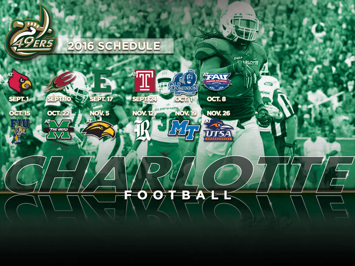 2016 Football Schedule Released Charlotte Athletics